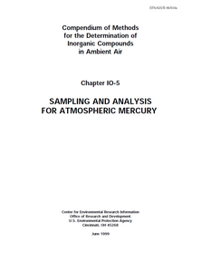 First page of the Sampling and Analysis for Atmospheric Mercury document