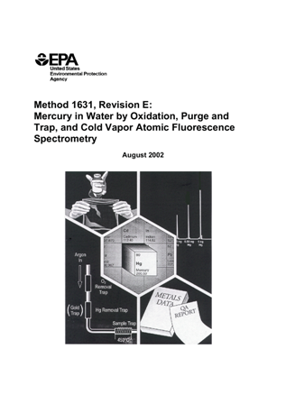 Cover page for the Method 1631: Mercury in Water by Oxidation